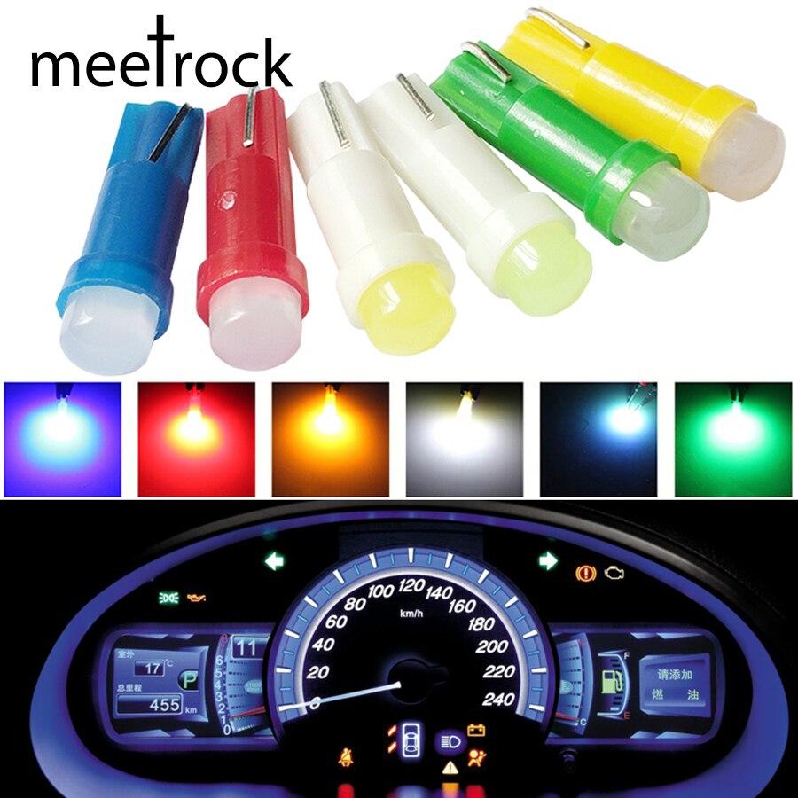 10 pcs T5 led car dashboard light instrument automobile door Wedge Gauge 12V ...
