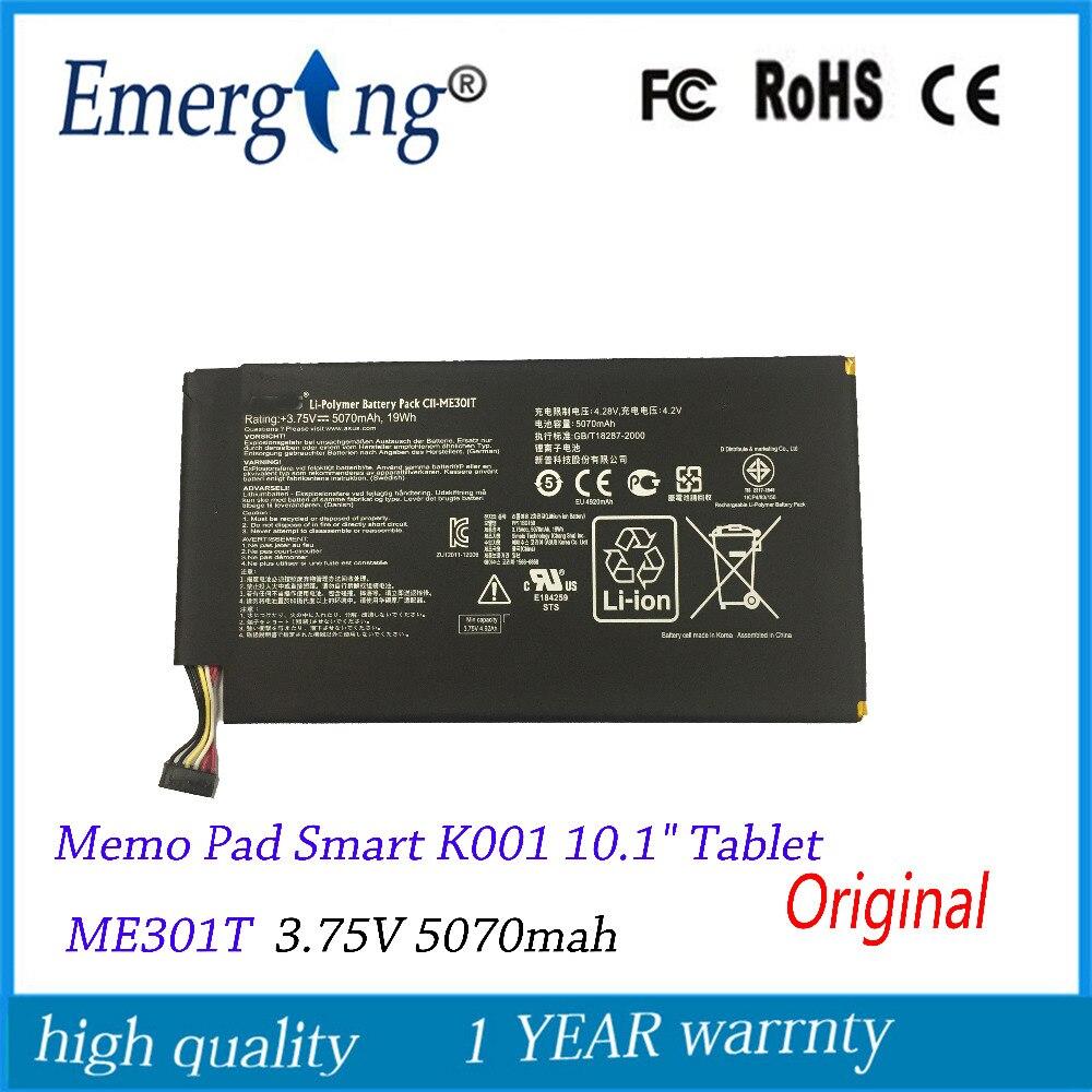 3.75 v 5070 mah originele tablet batterij voor asus memo pad smart k001 10.1
