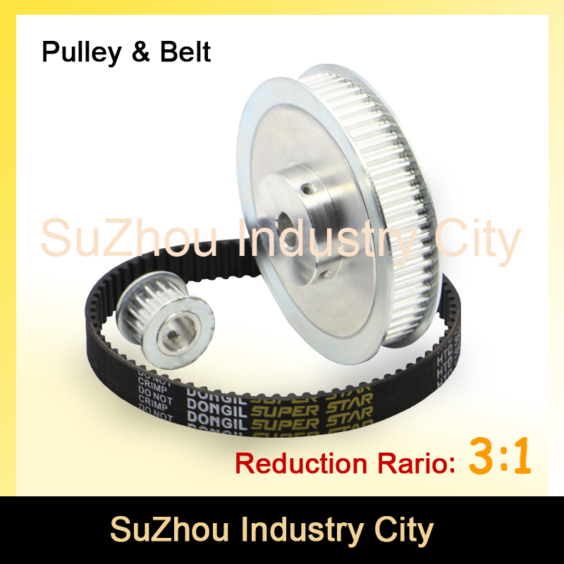 Timing Belt Pulley 5M Reduction 3:1 60teeth 20teeth shaft center distance 80mm Engraving machine accessories - belt gear kit flexible 3w 285lm warm white 3 led table light desk lamp silver ac 85 265v 2 flat pin plug
