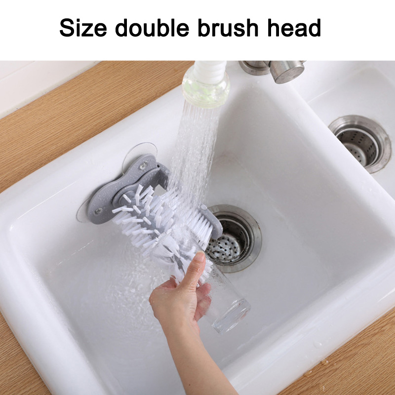 Image 4 - Glass Washer Sink Suction Cup Base Cleaning Bottle Glass Brush Bathroom Tool HYD88-in Cleaning Brushes from Home & Garden