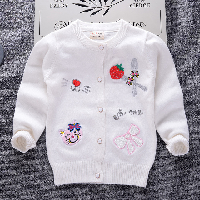 dab646419b98 Cardigan Sweater for Baby Girl 2018 Brand Design Children Clothes ...