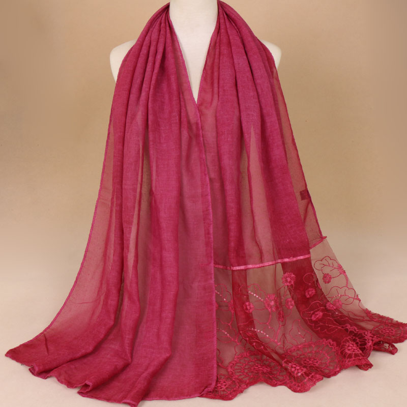 bandana women scarf muslim hijabs viscose lace mujer plain head scarfs shawls bufanda 100g hijab scarf women fashion headwear in Women 39 s Scarves from Apparel Accessories