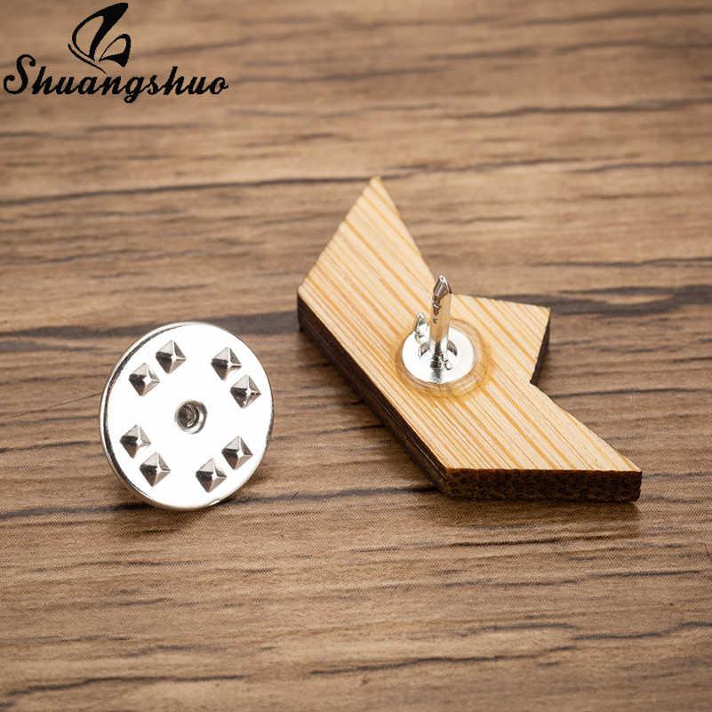 Shuangshuo Kayu Perahu Kertas Bros Pin untuk Wanita Lapel Bros Pin Origami Vintage Bros Kerah Lencana Denim Pin Brocade Femme