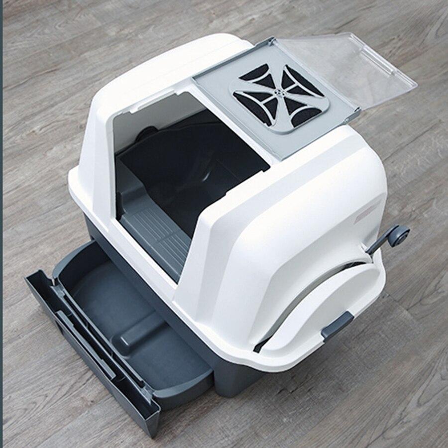 Grande litière Semi fermée produits de litière pour chat Inodoro automatique pour animaux de compagnie Arenero Gato Automatico boîte de tamisage luxueuse 30MC54 - 6