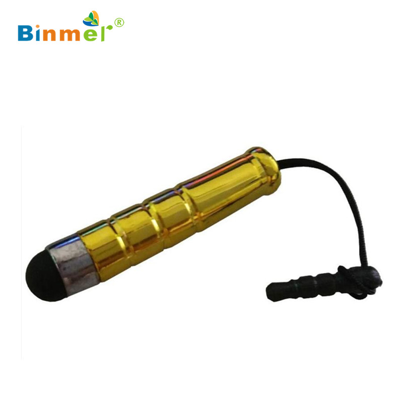Factory Price Binmer 1pcs Mini Fine Point Stylus Capacitive Touch Microfiber Stylus Pen Touch For ipad for iphone Gold Z7