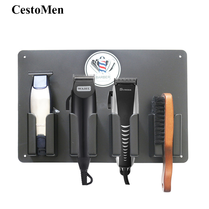 Barbershop Accessory Electric Hair Cutter Stand Barber Station Hair Trimmer Shaver Holder Resist Heat Hair Cutting Machine Stand