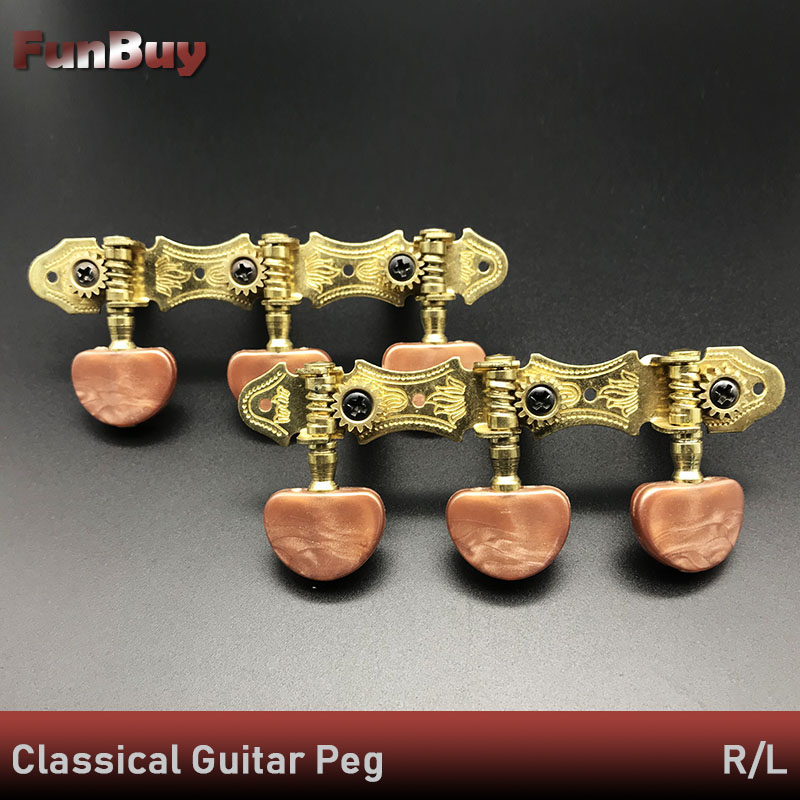 Left Right Classical Guitar String Tuning Pegs Machine Heads Tuners Keys Part 3L3R Professional Guitar Accessories Dropship