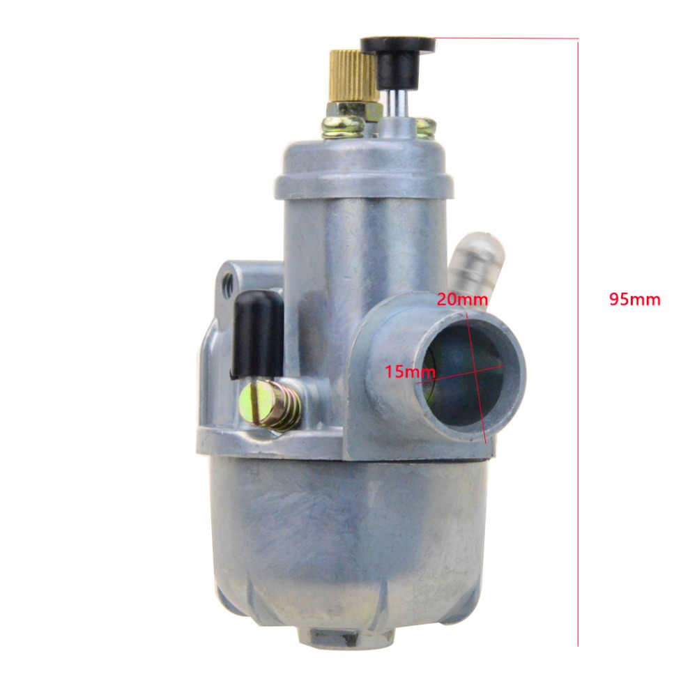 GOOFIT 15mm/12mm Carburetor Puch Moped Bing Style Carb Stock Maxi Sport Luxe Newport Cobra Carburettor