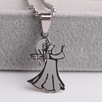 Sleepwalking doll 316L Stainless Steel pendant necklaces for women wholesale image