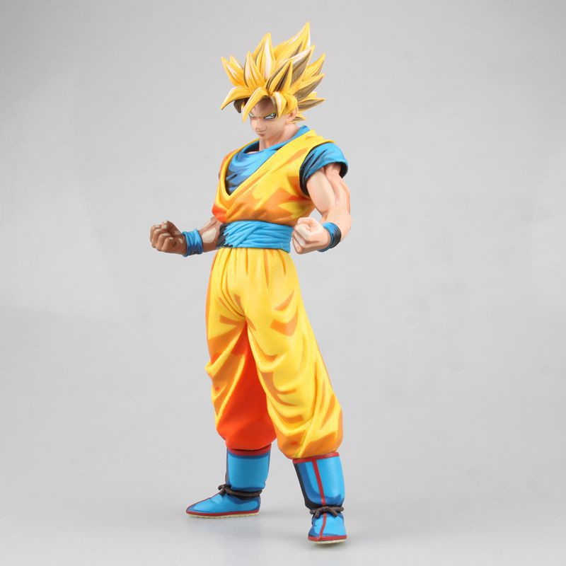 Huong Anime Figure 27CM Dragon Ball Super saiyan 2 Goku Comic Ver Son GoKu PVC Action Figure Collectible Model Toy anime dragon ball z son goku action figure super saiyan god blue hair goku 25cm dragonball collectible model toy doll figuras