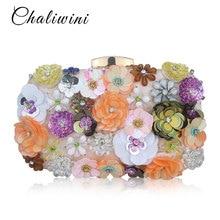 Cvetje Bela barva ročno izdelana tkanina za ženske večerna torba Luksuzna poročna torba z nevesto Pearl Party torbica Mini torbice denarnica