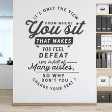 Creative Design Office Motivational Quote Wall Decals Vinyl Sticker School Classroom Decor  Removable Self Adhesive Mural 3257 vodool creative wall blackboard sticker vinyl removable self adhesive children early education decor stationery office supplies