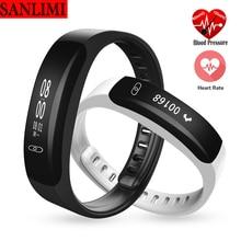 Sanlimi SmartBand часы крови Давление Bluetooth Smart Браслет монитор сердечного ритма Смарт Браслет фитнес для iOS и Android