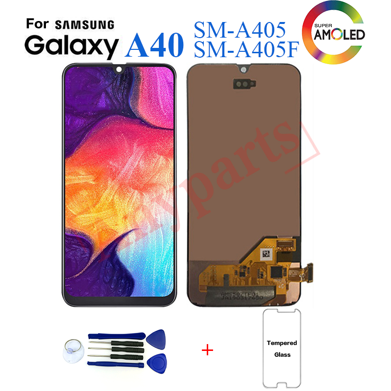Original For <font><b>Samsung's</b></font> Galaxy <font><b>A40</b></font> SM-A405F Display <font><b>lcd</b></font> Screen replacement for <font><b>Samsung</b></font> <font><b>A40</b></font> A405 A405F display <font><b>lcd</b></font> screen module image