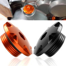 2piece Motorcycle Accessories CNC Aluminium Engine Igntion Cover Plug For KTM Duke 390 Duke 200 2011 2012 2013 2014 2015 2016 цена