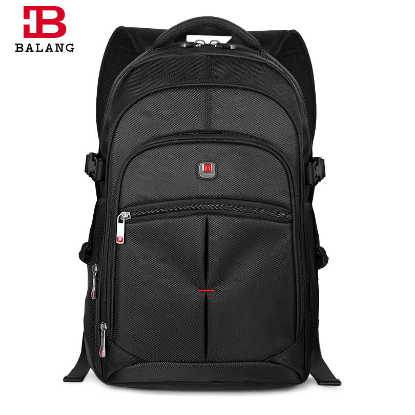 BALANG Men Laptop Backpack Waterproof Travel Business Computer Rucksack Fashion Male School Backpacks Teenagers mochila Escolar ozuko 14 inch laptop backpack large capacity waterproof men business computer bag oxford travel mochila school bag for teenagers
