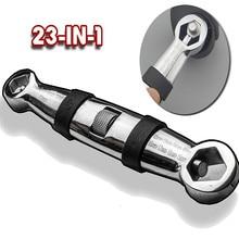Sıcak Satış 23 In 1 Çok Fonksiyonlu Esnek Tip Anahtarı/7 19mm ayarlanabilir anahtar