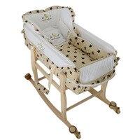 Съемный Детские кроватки с Подушки детские многофункциональные детские Колыбели младенческой шейкер Портативный манеж кроватки высокое к