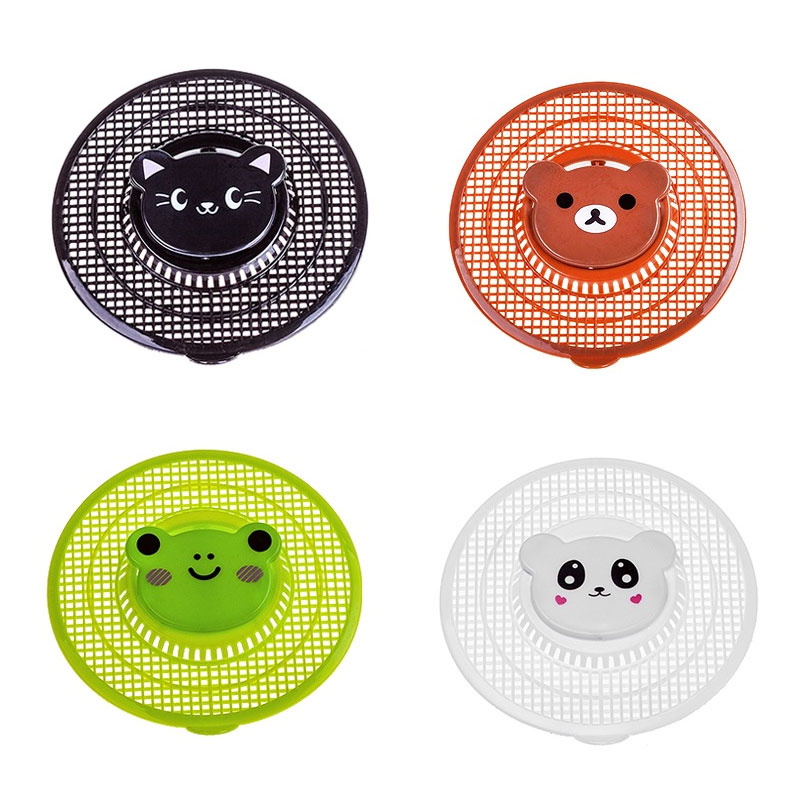 Bathroom Accessories Creative Cartoon Portable Floor Drain Hair Filter Bathroom Sink Strainer Hair Catcher Kitchen Cleaning Tool in Hair Stoppers Catchers from Home Garden