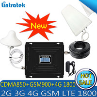 Lintratek CDMA 850/GSM 900 /DCS LTE 1800 Tri Band Cellular Cell phone signal repeater 2G 3G 4G LTE 1800Mhz Booster Amplifier