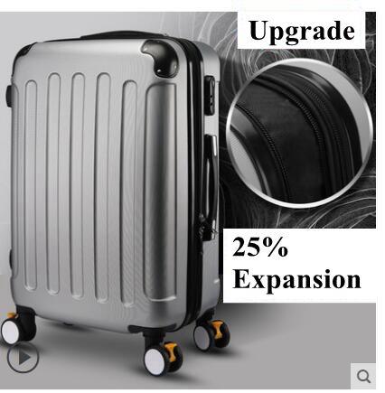 Marque 20 pouces 22 24 pouces valise roulante valise d'embarquement voyage fixation rétractable et mécanisme d'attache de sécurité Spinner cas valise valise valise à roulettes-in Bagages à roulettes from Baggages et sacs    1