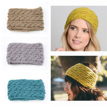 Winter Knitted Headband Women Ear Warmer Widening Wool Hair Bands Three Rows Twist Turban Headwrap for Girl Hair Accessories(China)