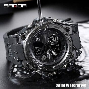 SANDA Military Quartz Shock Watch  2