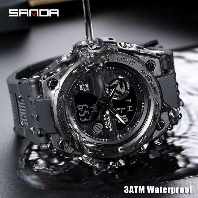 SANDA Military Quartz Shock Watch  2