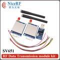 2 шт. SV651 Промышленных Uart 500 МВт 470 МГц Si4432 RS485 ВЧ Трансивер