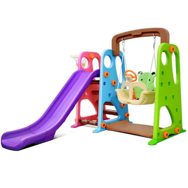 2-12 высокое качество большой крытый бытовая детский слайд-сочетание свинга игрушка утолщенный пластиковые детский сад