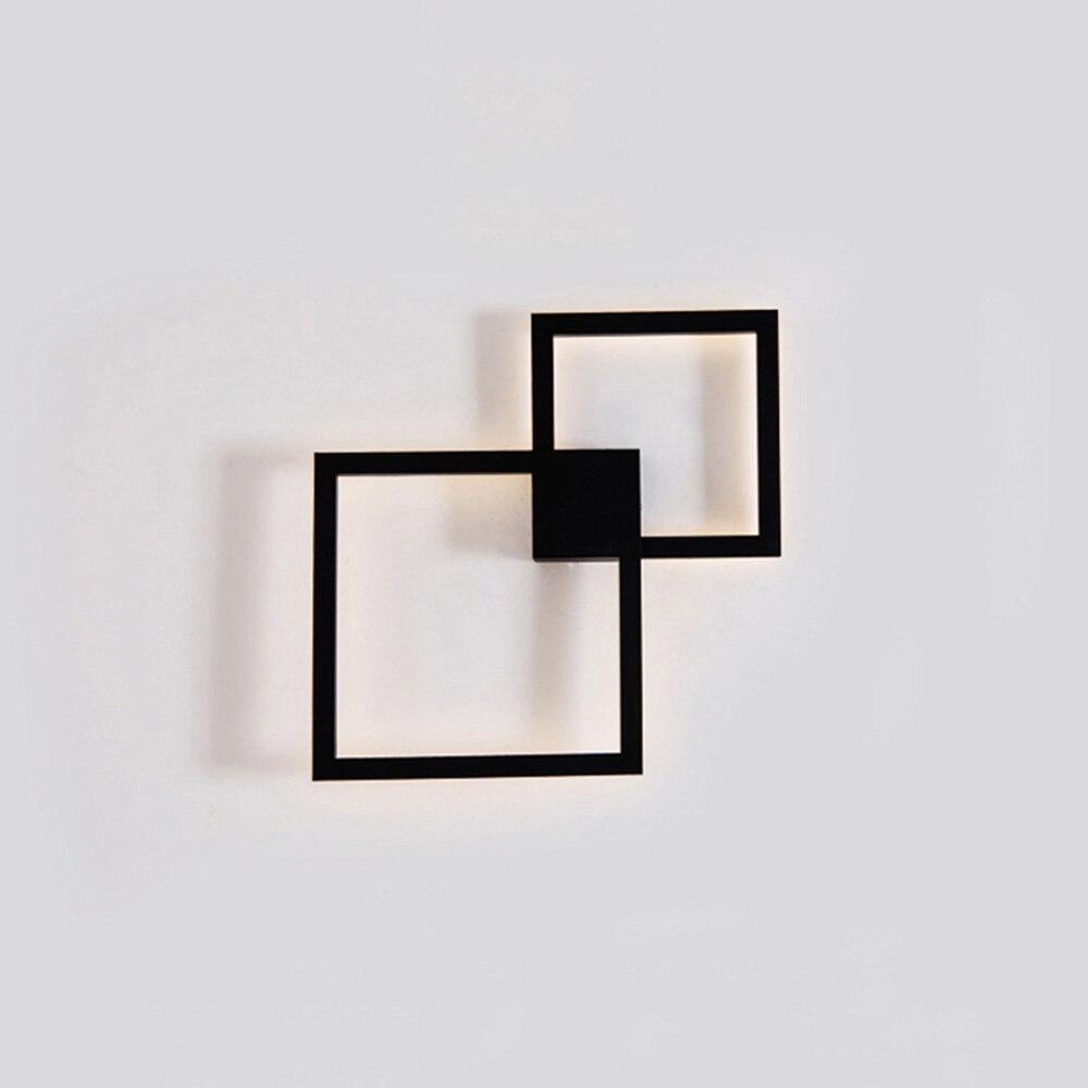 Модная креативная Геометрическая квадратная форма, скандинавский светодиодный настенный светильник для отеля, спальни, ванной комнаты, св