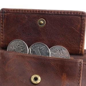 Image 5 - בציר מעצב 100% אמיתי Carteiras Masculinas עור פרה עור גברים קצר ארנק ארנק כרטיס מחזיק מטבע כיס זכר ארנקים
