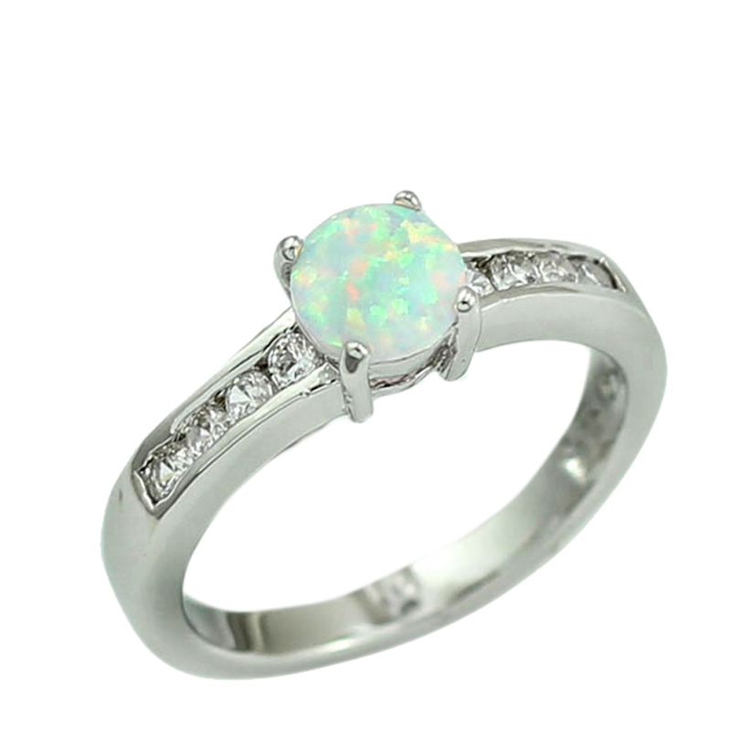 a20c7834d9 White Fire Opal CZ Women Claw Inay Fashion Jewelry Opal Ring Size 7 8 8.5  40W-in Rings from Jewelry   Accessories on Aliexpress.com