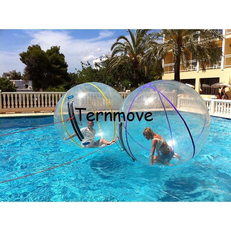 Boule de marche de l'eau Zorb Ballon 2 m Germmy zipper gonflable corps boule de zorbing pour les enfants marcher sur des boules d'eau balles de rouleau d'eau