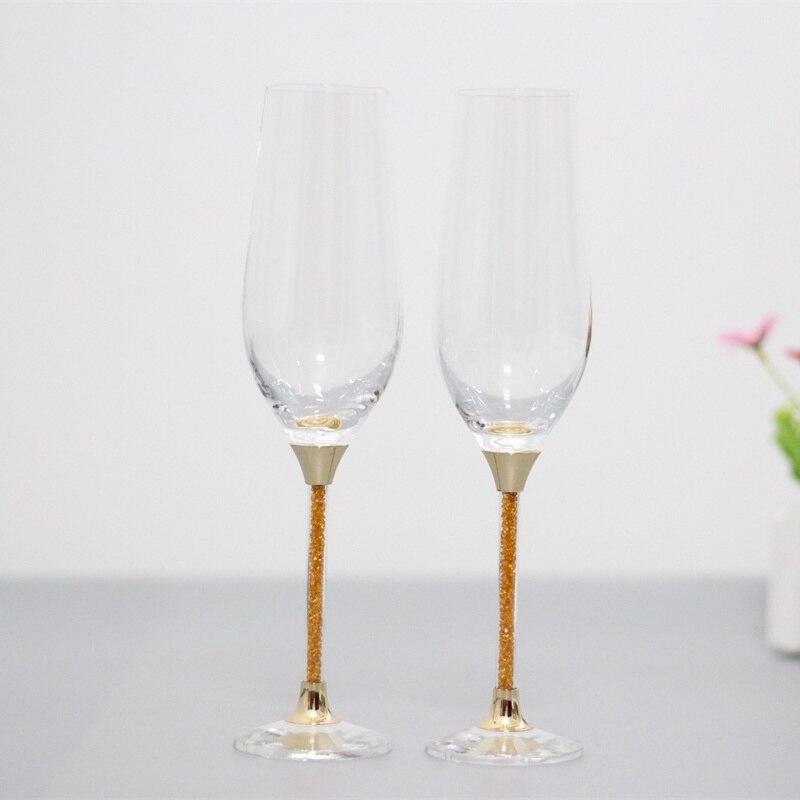 Wedding Gift Champagne Flutes: 2019 Hot Fashion Crystal Wedding Glasses Gold Champagne