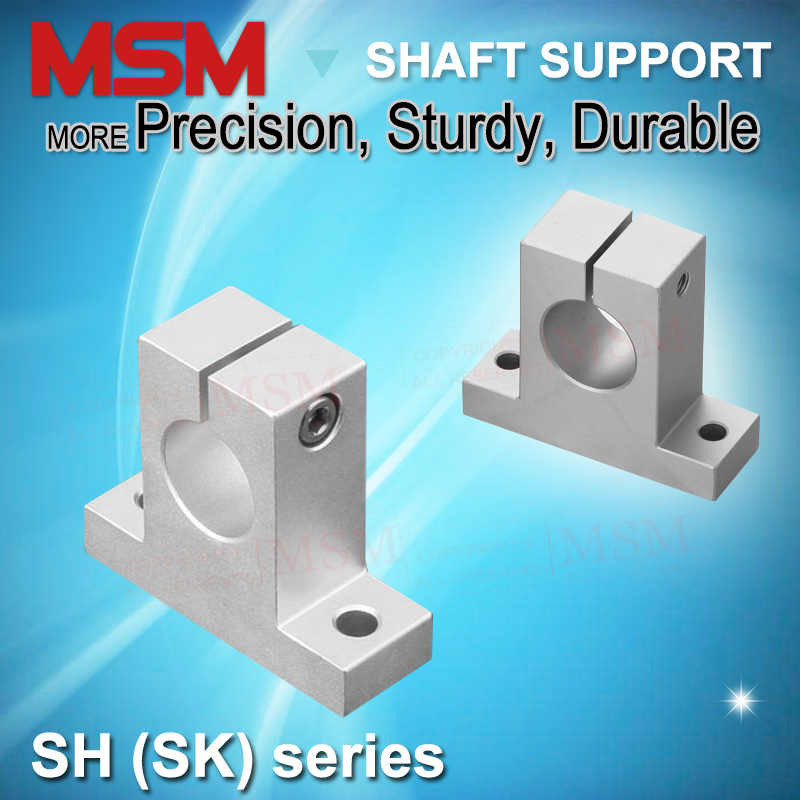 Shaft Rod Support CNC 3D Printer Robotic INVENTO 4pcs SK12 Bracket for 10mm Linear Rail