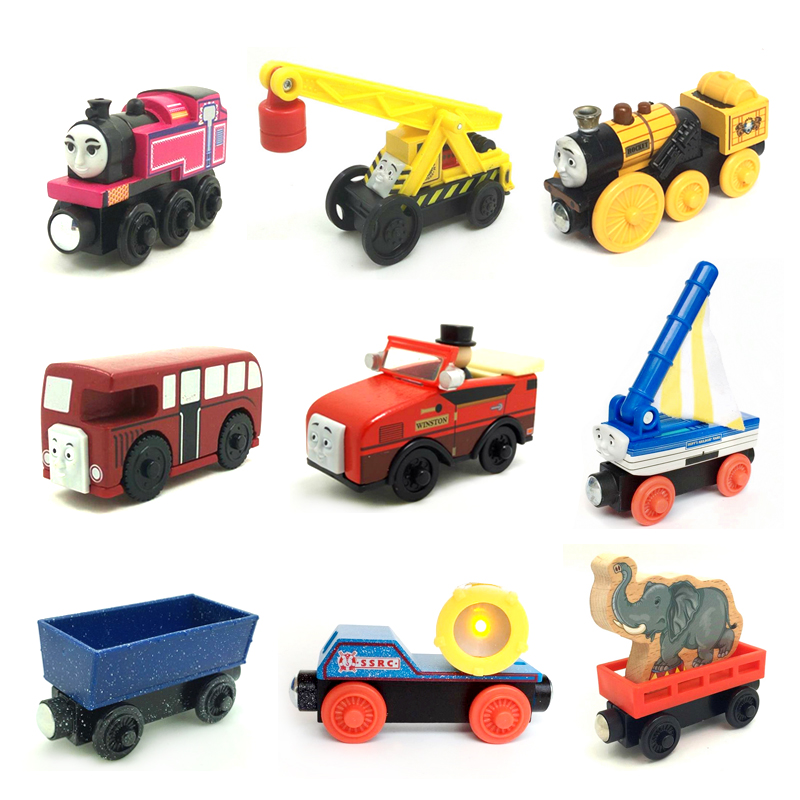 w40 Thomas and Friends Ashima,Kevin,Rocket,Bertie,Skiff,winston,Beach Wood Train version Wooden Magnetic Train Models Kids Gifts
