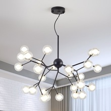 Nordic LED living room chandelier modern tree branch firefly creative lighting restaurant cafe clothing store pendant