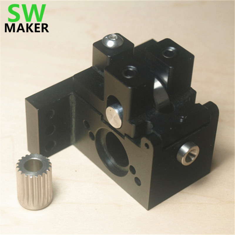ALL METAL CNC 3D PRINTING EXTRUDER REPRAP J HEAD HOT END(no motor)1.75 mm reducer for Nema 23/11 stepper motor extruder 100set bulldog extruder for 3d printer diy reprap all metal for 1 75 3mm compatible with j head mk8 remotely proximity