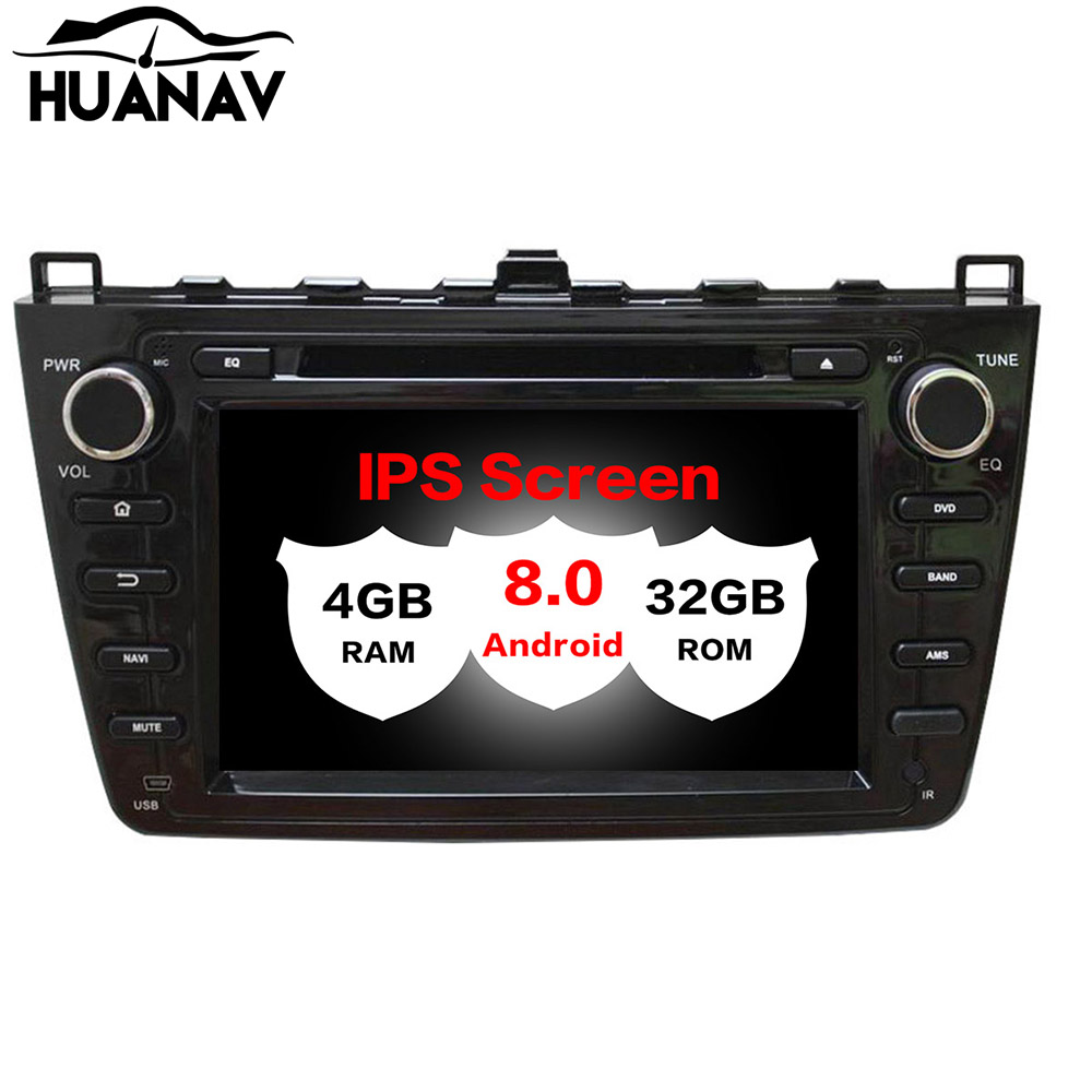 <font><b>Android</b></font> 8.0 Car GPS Navigation No DVD Player For <font><b>Mazda</b></font> <font><b>6</b></font> <font><b>Atenza</b></font> 2008-2012 audio radio player Headunit multimedia Stereo recorder image