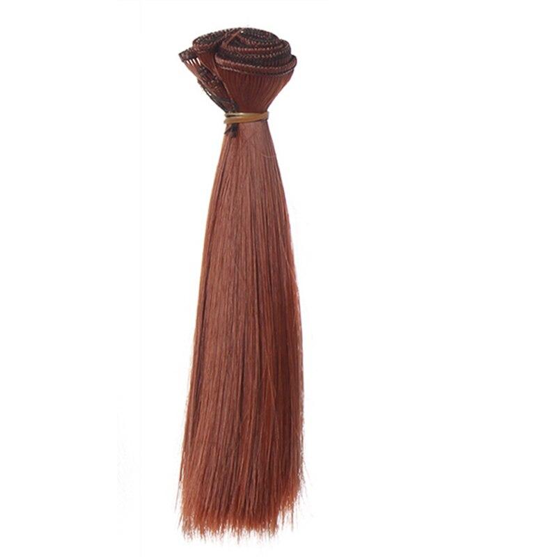 1 шт. 25 см * 100 см прямые волосы парик черный коричневый хаки кофейного цвета refires BJD dit парик для 1/3 1/4 волосы куклы ep018