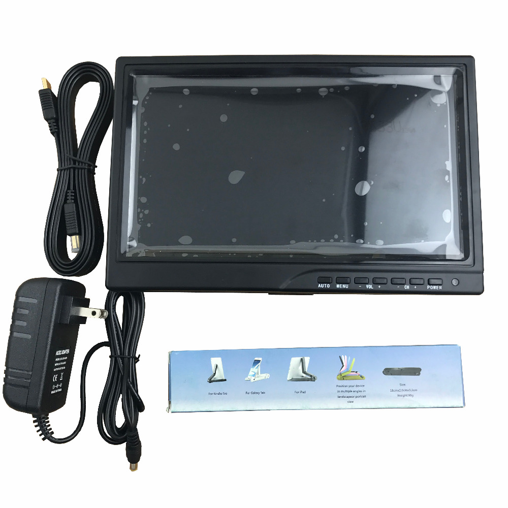 10.1inch HD display DIY LCD driver board with screen +case 1280*800 for car Monitor display FPV Aerial display