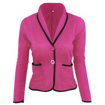 Yaxez Women Business Work Blazer Feminino Suit Long Sleeve Casual Slim Office Lady Jacket Gray Black Elegant Coat Outwear Tops