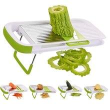 5 в 1 многофункциональное устройство резки овощей и фруктов Пластиковые лезвия из нержавеющей стали Регулируемые морковь лук овощечистка, терка, резка HTQ99