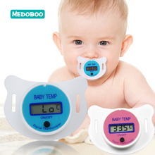 Medoboo Baby Nipple Thermometer Infant Medical Silicone Pacifier LCD Digital Safety Temperature Monitor 10