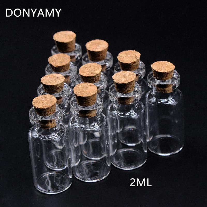 New Wholesale 20 pcs 2 ml 16x35mm Petit Minuscule Verre Transparent Bouteille Flacon avec bouchon