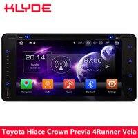 KLYDE 4G Восьмиядерный 4 Гб + 32 ГБ Android 8,0 автомобильный dvd плеер радио для Toyota Land Cruiser Prado Terios Sequoia Aversis Allion Celica