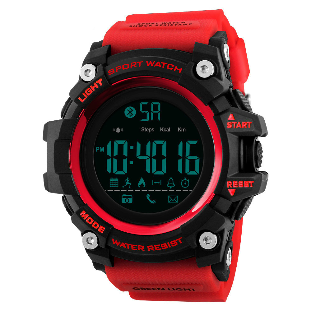 Men Smart Sports Watch Pedometer Calorie Chronograph Fashion Outdoor Sports Watch 50 Meter Waterproof Digital Watch 1385 braun chronograph sports watch