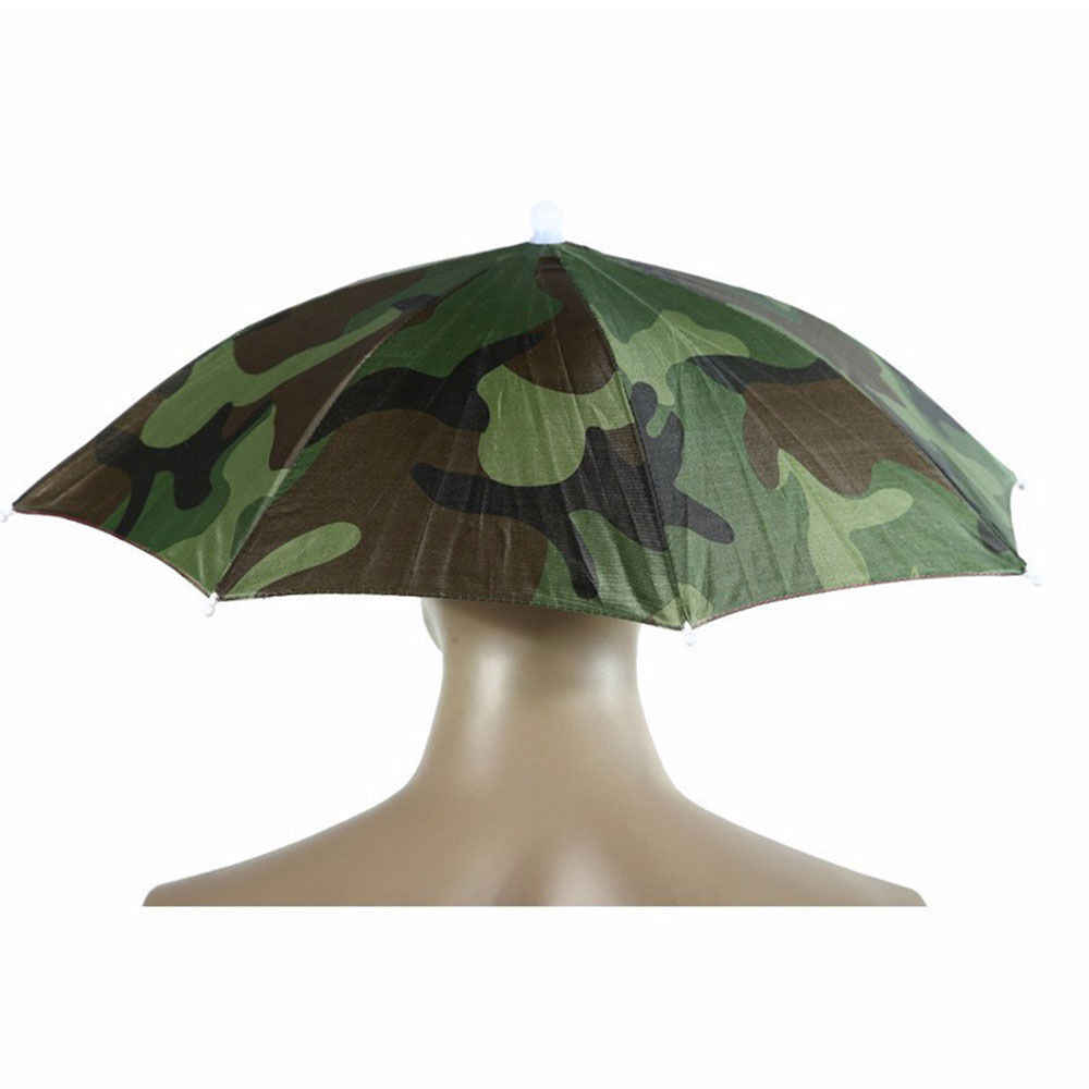 b4ff126d443eb ... New Arrival Headwear Cap Camouflage Pattern Outdoor Sport Foldable Hat  Cap Nylon Umbrella Sun Rain Umbrella ...