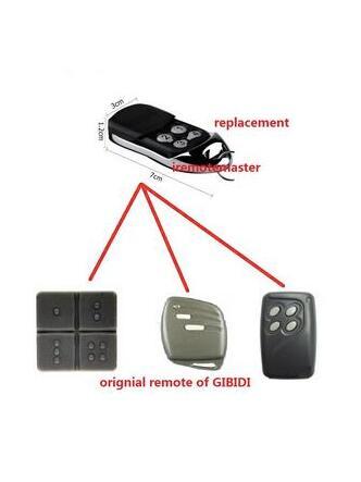 GiBiDi AU1600 , GiBiDi Domino Compatible Multi garage door remote control